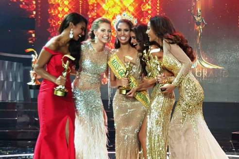Miss Grand International, Anea Garcias with her runners up. Loved the support and cheers for each other.