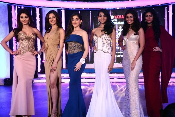Left to right: Urvashi Rautela, Natasha Assadi, Aishwarya Dhavale, Aileena Catherine Amon, Hemali Soni and Naveli Deshmukh.