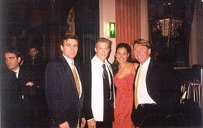 Leo, Roman Henson - Mr. Intercontinental Estonia 2001, Miss Intercontinental year winner, and General organizer Mr.Detlef Tursies