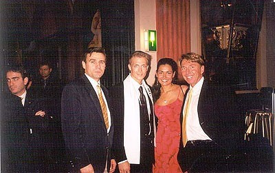 Leo, Roman Henson - Mr. Intercontinental Estonia 2001, Miss Intercontinental year winner, and General organizer Mr.Detlef Tursies