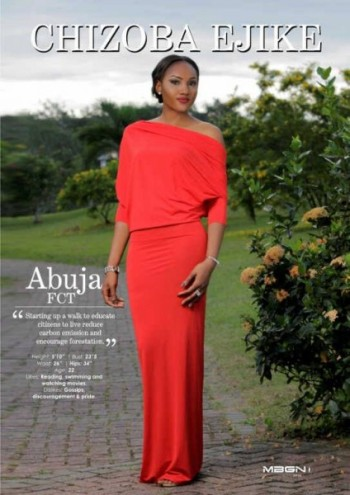 Miss Abuja – Chizoba Ejike – MBGN Tourism 2015 (2nd Runner Up)