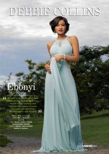 Miss Ebonyi – Debbie Collins – MBGN Universe 2015 (1st Runner Up)