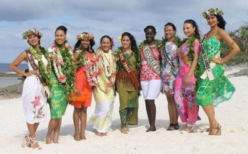 The beautiful eight contestants of Miss Pacific Islands 2015