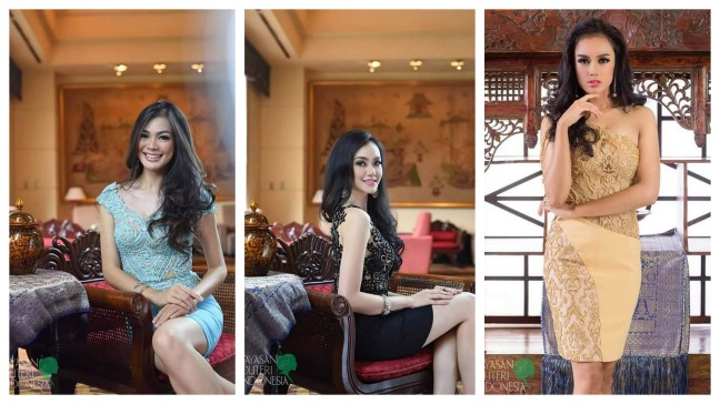 (Left - Right) Puteri Indonesia 2016 (Miss Universe Indonesia 2016), Kezia Roslin Cikita Warouw, Puteri Indonesia 2016 (International) Felicia Hwang and Puteri Indonesia 2016 (Supranational) Intan Aletrino