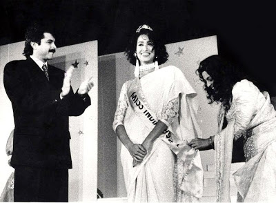 madhu sapre-crowning as miss india 1992