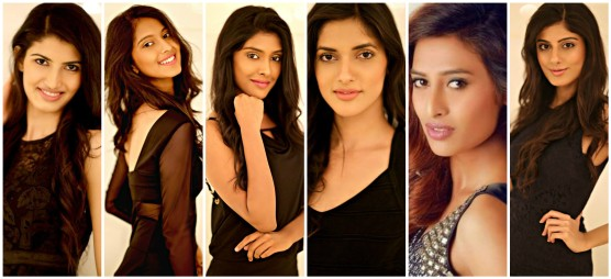 From Left to Right - Aishwarya Sheoron, Anisha Nitin, Gayathri Reddy, Natasha Singh, Nazneen Shaikh and Niharika Anand