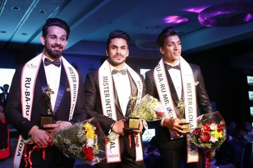 (Left to Right) Anurag Fageriya (Mister Model International Pageant India 2016), Mudit Malhotra (MISTER INTERNATIONAL INDIA 2016 and Prateek Baid (MISTER GLOBAL INDIA 2016).
