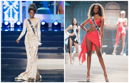 Yaritza Reyes at Miss Universe 2013 contest where made it to the top 10.