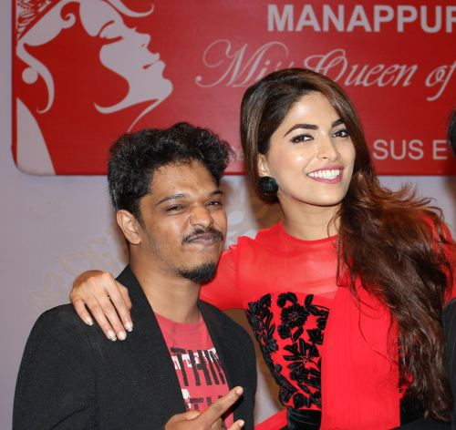 With his role model, Parvathy Omnakuttan, Miss World 2008 1st runner-up