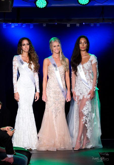 Winner Miss Norway/ Miss Universe Norway 2016 - Christina Waage. (Center) Winner Miss International Norway 2016 - Camilla Devik (right) and 1st runner-up Yasmin Osee Aakre (left)