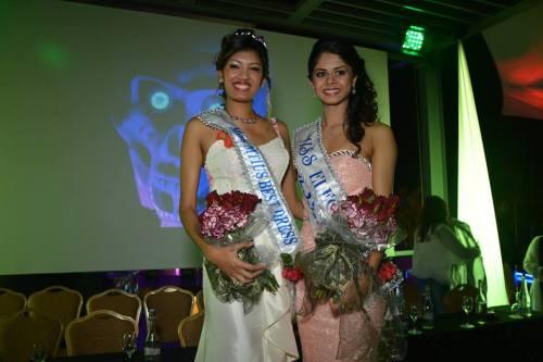 Best Dress Award winner - Melissa Vencatachellum and Elegance award winner - Bessika Bucktawor