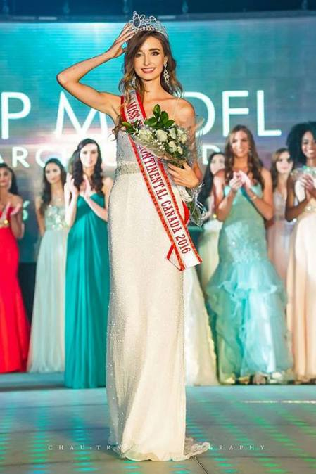 Madison Kvaltin - Miss Intercontinental Canada 2016.