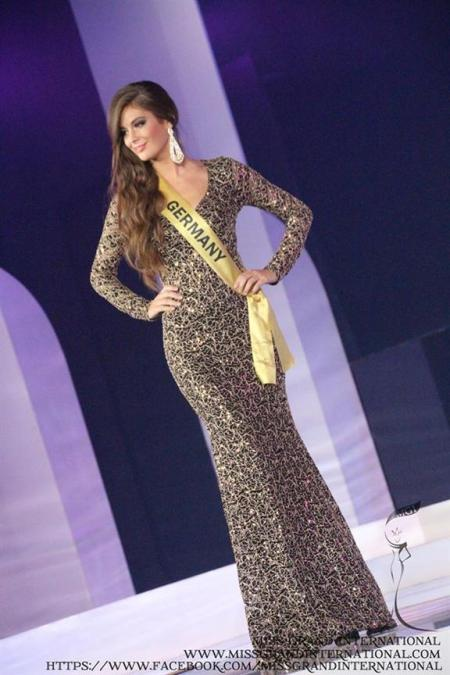 At the preliminary round of Miss Grand International 2014