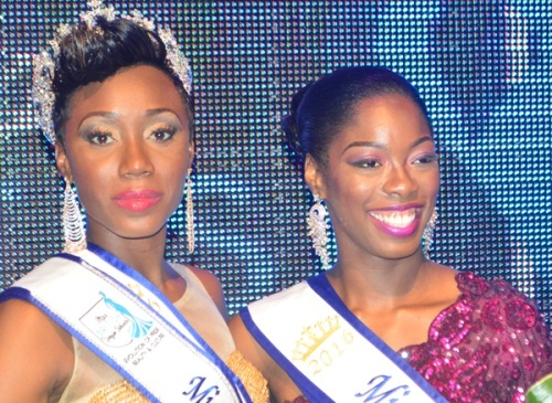 Miss BVI 2016 Erika Creque and second place finisher Reba Thomas