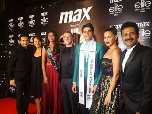 The winners with the judges: Neha Dhupia, Marc Robinson, Alexandra Parolini, Vick Mihaci, & Vasanth Kumar