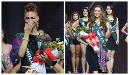 Best Eco Video winner Miss Moldova and Earth Warrior winner Miss Wales