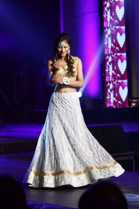 Priyadarshini Borah during the ethnic wear round of Rubaru Miss India Elite 2016