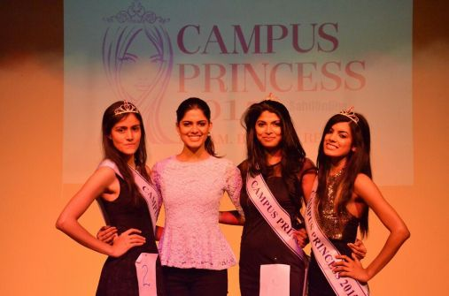 Elizabeth as Miss Campus Princess Bangalore 2015 winner