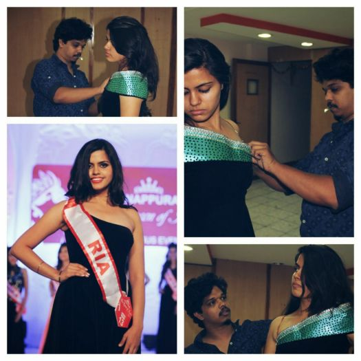 Ria Sadhwani gets her final fittings before Miss Queen of India 2015
