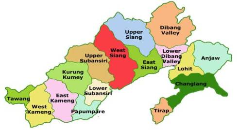 Arunachal Prdaesh_map