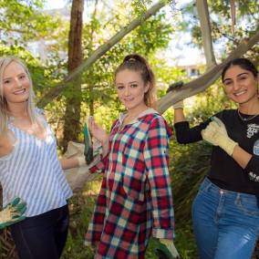 Miss Earth Australia 2017 candidates planting trees