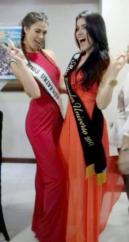 Miss Universe 2016 Iris Mittenaere with Miss Ecuador 2017